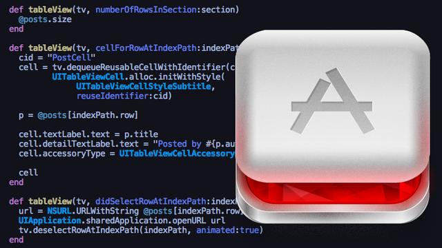RubyMotion: нативные iOS приложения на Ruby (перевод)