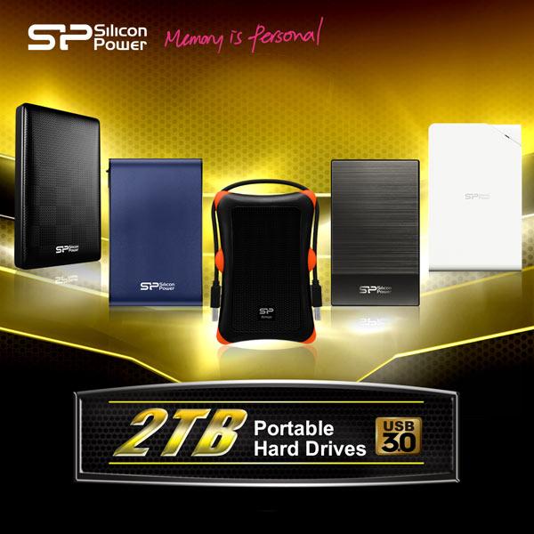 Портативные HDD SP/ Silicon Power оснащены интерфейсом USB 3.0