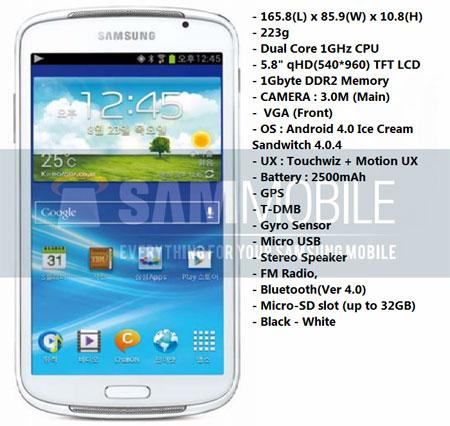 Samsung YP-GP1 и его спецификации