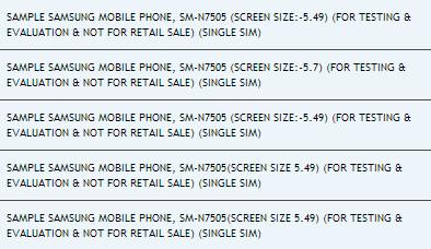 Samsung Galaxy Note 3 Lite (SM-N7505) проходит тестирование в Индии