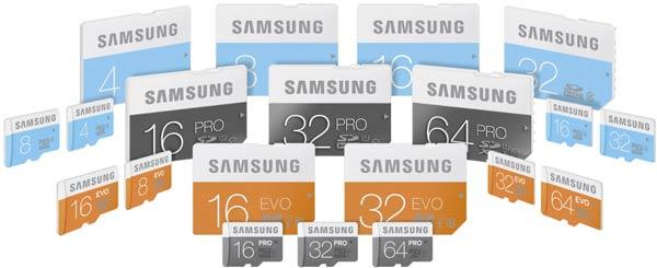 Карточки памяти Samsung серий Pro, Evo и Standard являются водонепроницаемыми