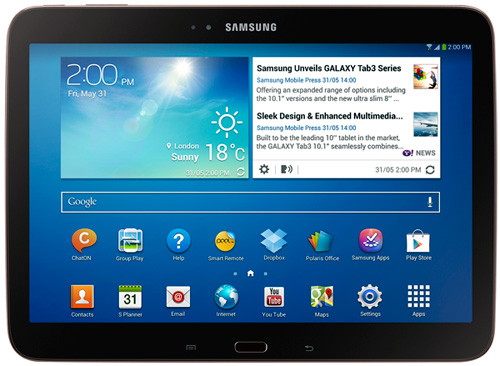 За 2013 года Samsung реализовала 40 млн планшетов, а план на следующий год — 100 млн