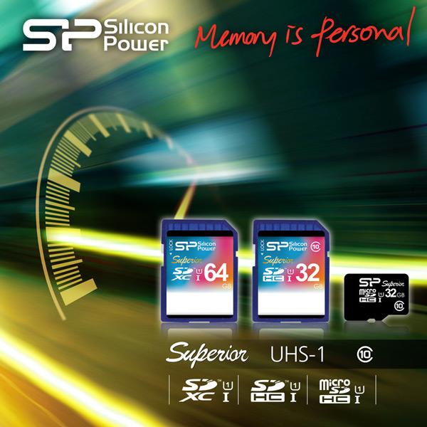 Silicon Power включает в серию Superior UHS-1 карточки памяти SDXC и microSDHC