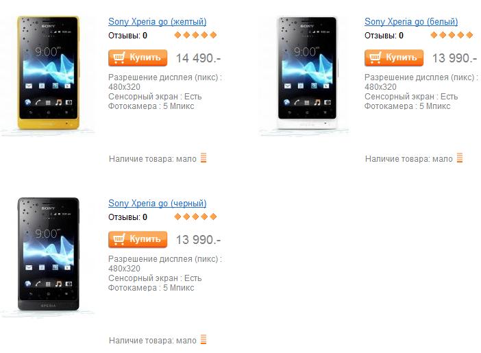 Sony Xperia go вышел в российскую продажу