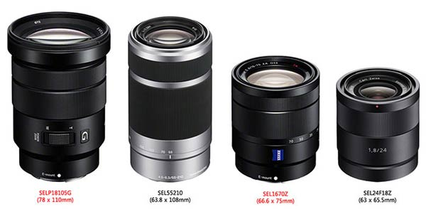 Объективы Sony 16-70mm F4 ZA OSS Vario-Tessar T * E и 18-105mm F4 G OSS E PZ с байонетом E-mount будут представлены на этой неделе