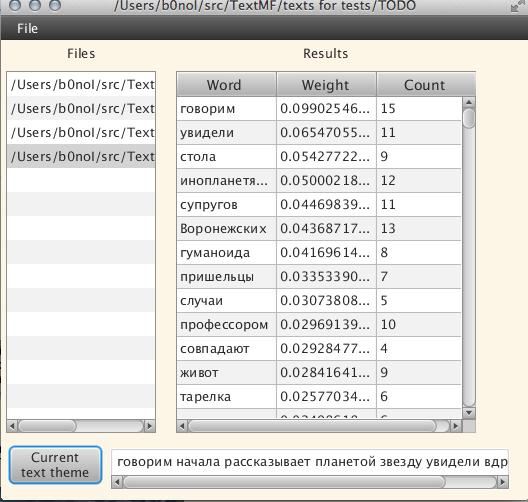 Text Mining Framework (Java)