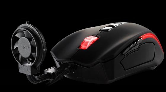 Thermaltake представила игровую мышь с активным обдувом руки