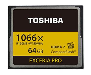 Toshiba анонсирует карты памяти CompactFlash Exceria Pro 2, способные развить скорость записи 150 МБ/с