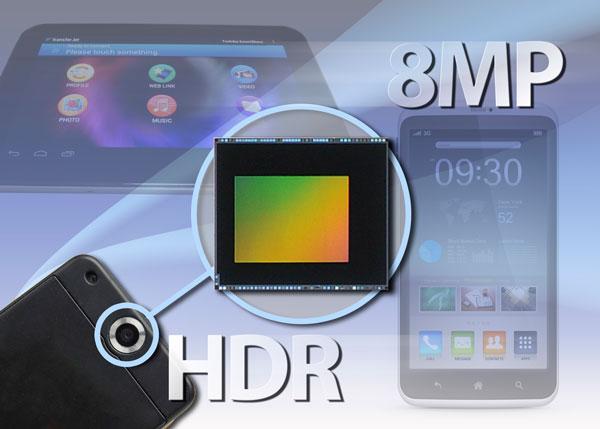Разрешение датчика изображения Toshiba T4K05 для мобильных устройств равно 8 Мп