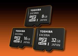 Объем карточек Toshiba EXCERIA microSDHC UHS-I достигает 32 ГБ