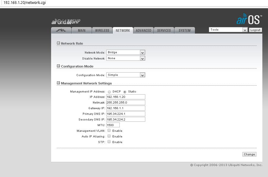 Ubiquiti AirGrid HP 20dBi — Разворачивание сетевого моста. Личный опыт