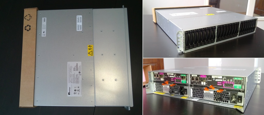 Внешний вид и габариты NetApp E2700