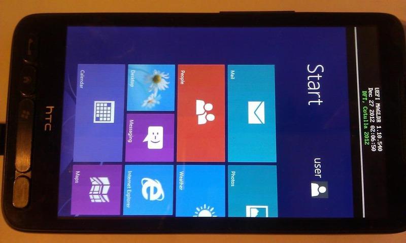 Windows RT запущена… на HD2