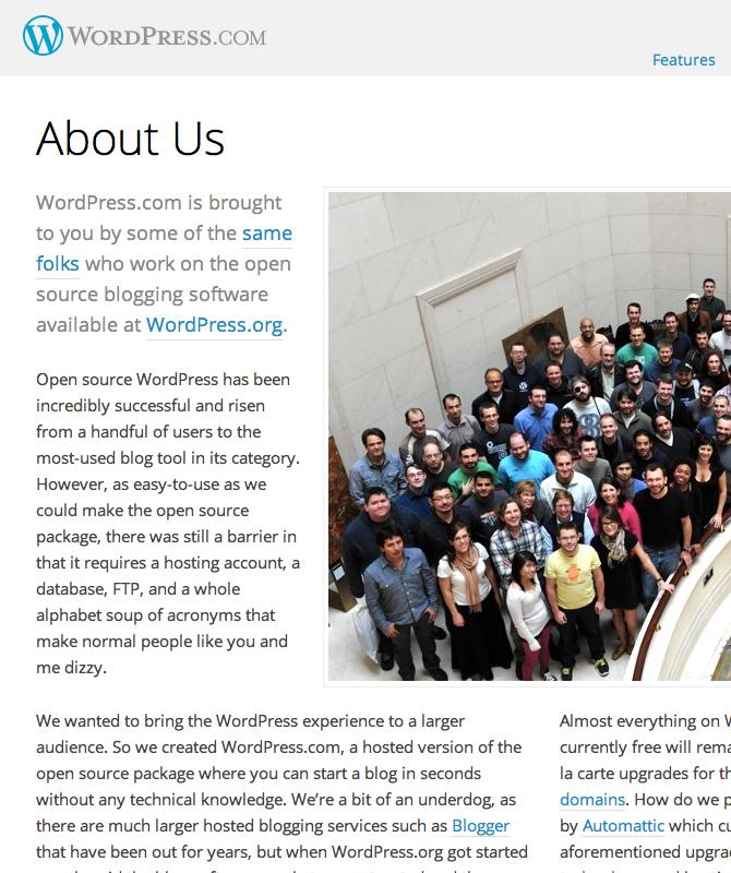Wordpress.com перешёл на свободный шрифт Open Sans