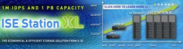 Производительность хранилища X-IO ISE Station XL достигает 1 млн. IOPS