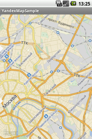 Yandex Map Kit for Android. Поворот карты