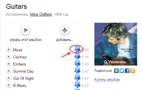 Yandex Music downloader для Google Chrome