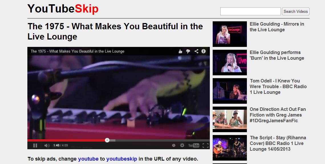 YouTubeSkip — правильный YouTube