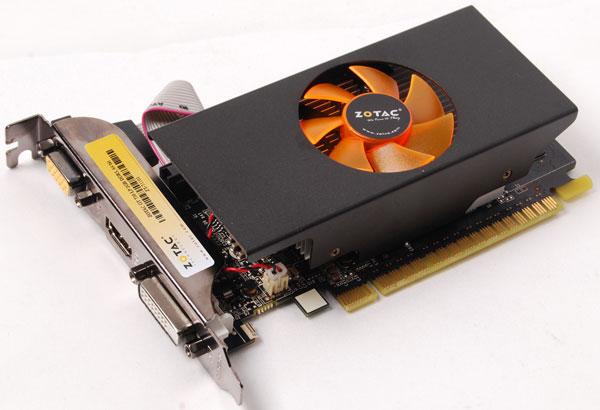 Конфигурация GPU Zotac GeForce GT 730 включает 384 потоковых процессора