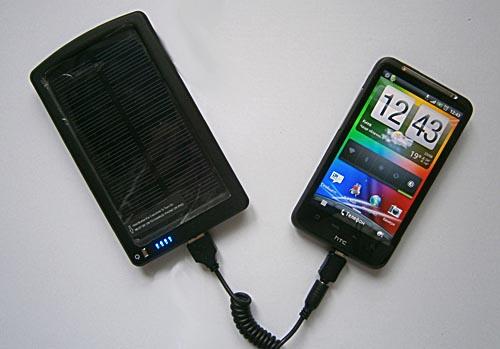 процесс подзарядки смартфона с  BP-SC4000