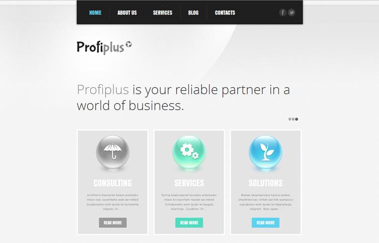 Адаптивный WordPress шаблон