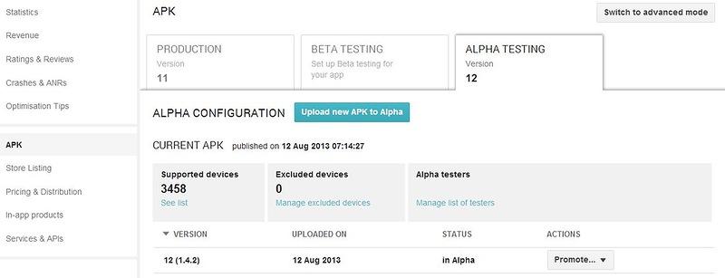 Альфа и бета тестирование android приложений