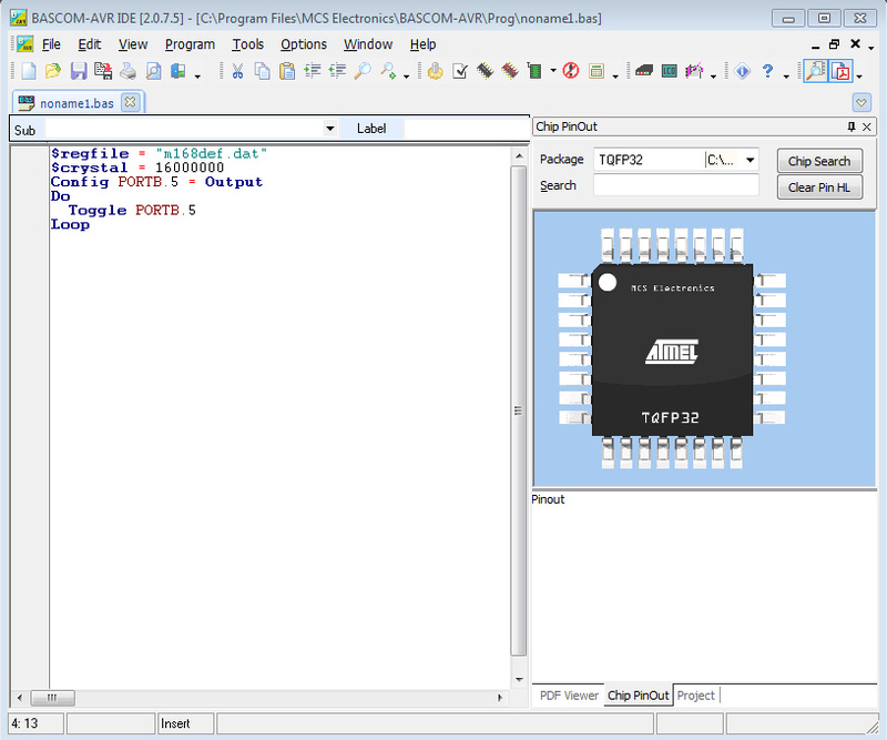 Альтернатива Wiring для Arduino — BASCOM AVR