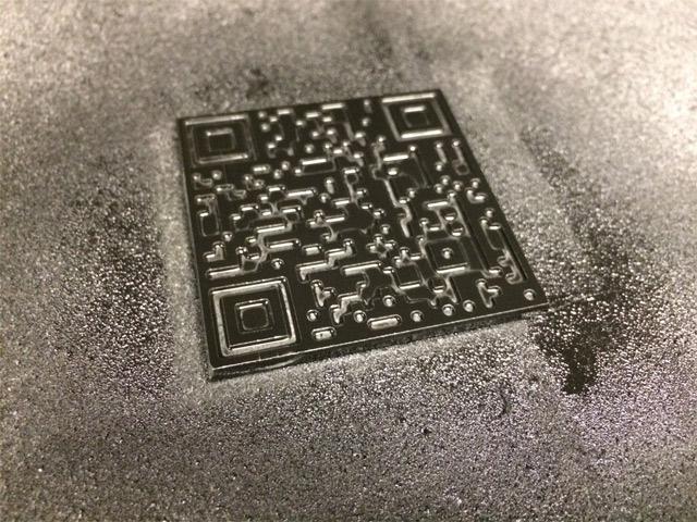 Алюминиевый брелок с QR адресом Bitcoin