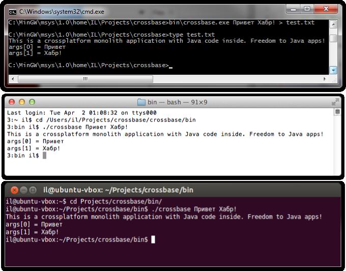 Автономная кроссплатформенная монолитная программа на Java