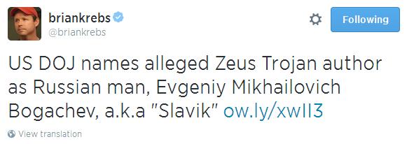 Автор банковского трояна Zeus объявлен в розыск