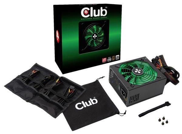 Блоки питания Club 3D серии CSP имеют сертификат 80 Plus
