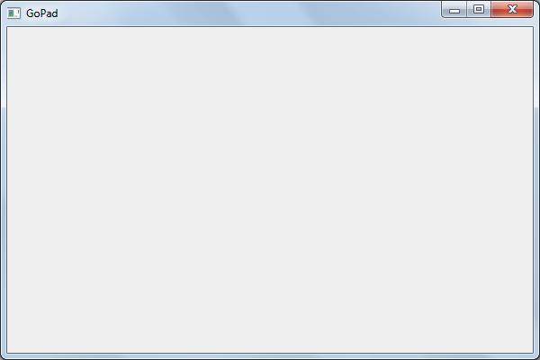 Блокнот с графическим интерфейсом на языке Go