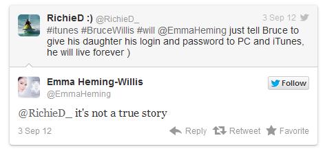 Брюс Уиллис не будет судиться с Apple