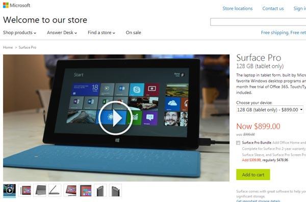 Microsoft готовит к выпуску новую модель планшета Surface Pro?