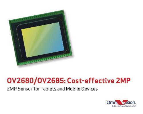Серийный выпуск датчиков изображения OmniVision OV2680 и OV2685 должен начаться в первом квартале 2014 года