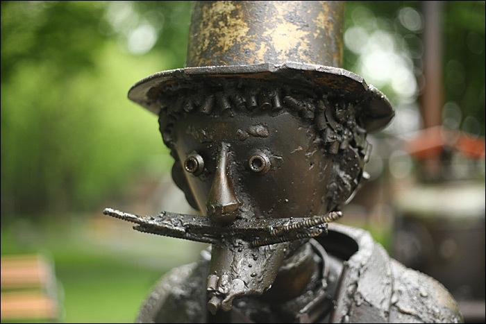 День стимпанка в Бабушкинском парке + новый стимпанк памятник