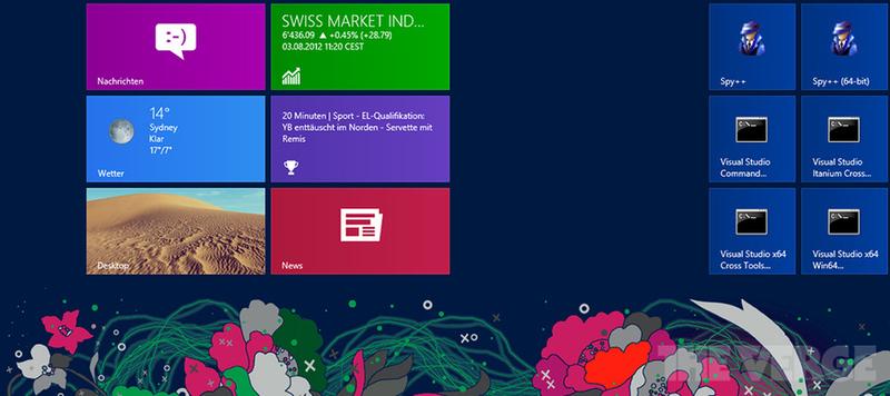 Дизайн фоновых изображений стартового экрана в Windows 8