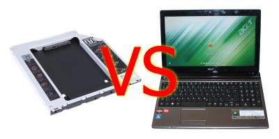 Добавление HDD в «капризный» ноутбук