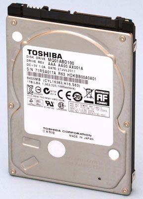 Toshiba увеличила ёмкость тонких HDD для ноутбуков до 1 ТБ