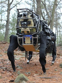 Робототехника / Новые оutdoor испытания робота AlphaDog от Boston Dynamics
