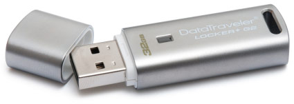 Флэш-накопитель DataTraveler Locker+ G2 развивает скорость записи 5 МБ/с