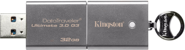 Флэш-накопители Kingston DataTraveler Ultimate 3.0 G3 доступны объемом 32 и 64 ГБ