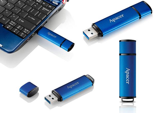 Флэш-накопитель Apacer AH552 оснащен интерфейсом USB 3.0