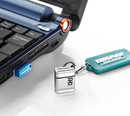 Флэшка Kingmax PI-01 — 32 ГБ памяти в корпусе размерами 19,5 x 15,4 x 6,8 мм