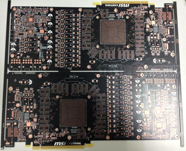 Подсистема питания 3D-карты MSI Radeon R9 290X Lightning включает три разъема для подачи дополнительного питания