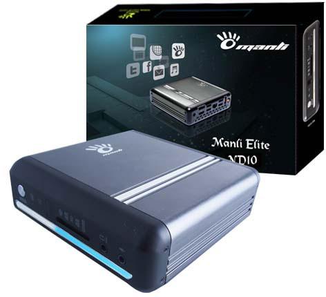 Основой неттопа Manli Elite ND10 служит процессор Intel Atom D2550