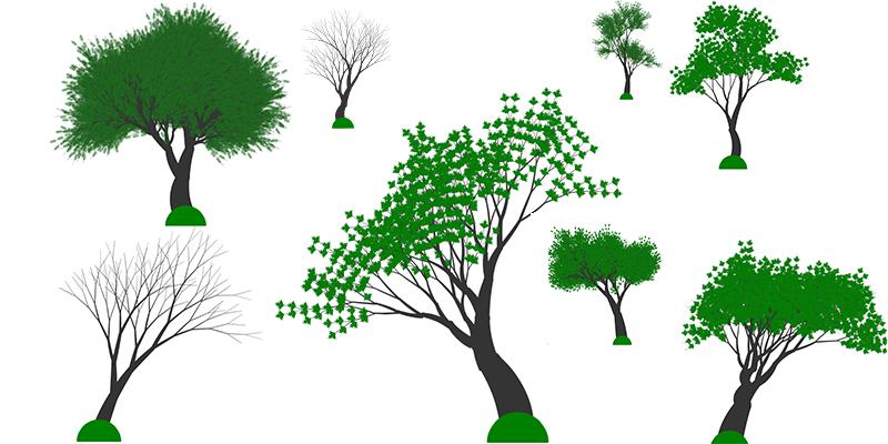 Генерация деревьев на HTML5 Canvas