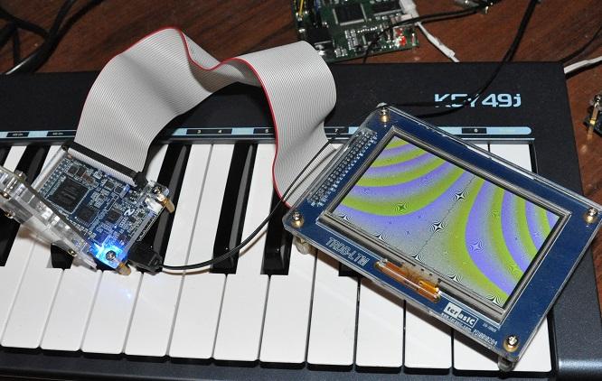 Генерация видео математической функцией на ПЛИС