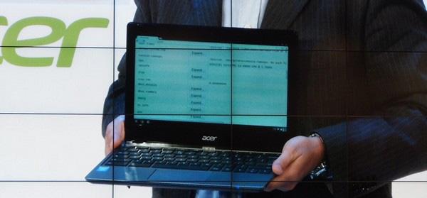 Хромбук Acer на базе процессора Intel Core i3 будет стоить $349